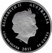 50 Cents - Elizabeth II (4th Portrait - Starfish) -  obverse