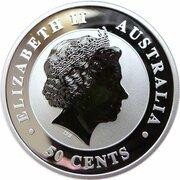 50 Cents - Elizabeth II (4th Portrait - Koala - Silver Bullion Coinage) -  obverse