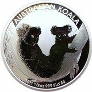 50 Cents - Elizabeth II (4th Portrait - Koala - Silver Bullion Coinage) -  reverse