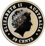 50 Cents - Elizabeth II (4th Portrait - Australian Koala) -  obverse