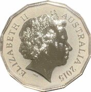 50 Cents - Elizabeth II (4th Portrait - Year of the Goat - Silver Proof) – obverse