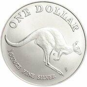1 Dollar - Elizabeth II (3rd Portrait - Kangaroo - Silver Bullion Coinage - Coin Master) -  reverse