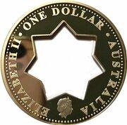 1 Dollar - Elizabeth II (4th Portrait - Centenary of Federation - Holey Dollar) -  obverse