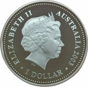 1 Dollar - Elizabeth II (4th Portrait - St. Edward's Crown - Silver Proof) – obverse