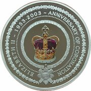 1 Dollar - Elizabeth II (4th Portrait - St. Edward's Crown - Silver Proof) – reverse