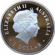 1 Dollar - Elizabeth II (4th Portrait - Golden Pipeline) -  obverse