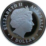1 Dollar - Elizabeth II (4th Portrait - Prince Henry of Wales 21st Birthday) -  obverse