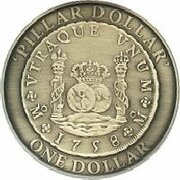 1 Dollar - Elizabeth II (4th Portrait - Spanish Pillar Dollar) -  reverse