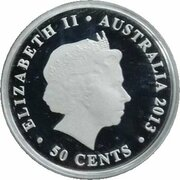 50 Cents - Elizabeth II (4th Portrait - Merry Christmas - Silver) – obverse