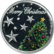 50 Cents - Elizabeth II (4th Portrait - Merry Christmas - Silver) – reverse
