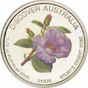 50 Dollars - Elizabeth II (4th Portrait - Golden Wattle - Platinum Proof) -  reverse