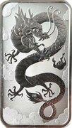 1 Dollar - Elizabeth ll (6th Portrait - Chinese Dragon Bullion Bar) -  reverse