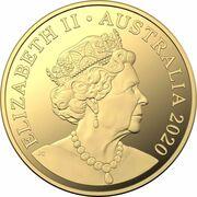 30 Dollars - Elizabeth II (6th Portrait - QANTAS Centenary - Gold Proof) -  obverse