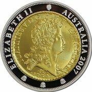 1 Dollar - Elizabeth II (4th Portrait - One Johanna - Silver Proof Gilded) -  obverse