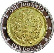 1 Dollar - Elizabeth II (4th Portrait - One Johanna - Silver Proof Gilded) -  reverse