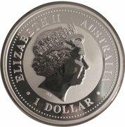1 Dollar - Elizabeth II (4th Portrait - Australian Kookaburra - Silver Set) -  obverse