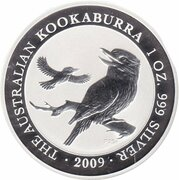 1 Dollar - Elizabeth II (4th Portrait - Australian Kookaburra - Silver Set) -  reverse