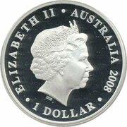 1 Dollar - Elizabeth II (4th Portrait - 150 Years of Australian Football - Silver Proof) -  obverse