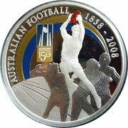 1 Dollar - Elizabeth II (4th Portrait - 150 Years of Australian Football - Silver Proof) -  reverse