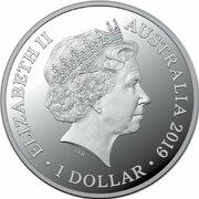1 Dollar - Elizabeth II (4th Portrait - Kangaroo at Sunset) -  obverse
