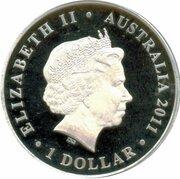 1 Dollar - Elizabeth II (4th Portrait - Centenary of Australian Bronze Coinage) -  obverse