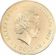 1 Dollar - Elizabeth II (4th Portrait - Wallabies - Men of Gold) -  obverse