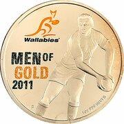 1 Dollar - Elizabeth II (4th Portrait - Wallabies - Men of Gold) -  reverse