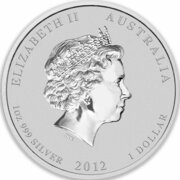 1 Dollar - Elizabeth II (4th Portrait - Year of the Dragon - Silver Bullion Coin) – obverse