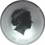 1 Dollar - Elizabeth II (4th Portrait - Year of the Horse - Silver Bullion Coin) -  obverse