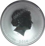 1 Dollar - Elizabeth II (4th Portrait - Year of the Horse - Silver Bullion Coin) -  obverse