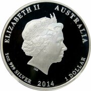 1 Dollar - Elizabeth II (4th Portrait - Red Cross) -  obverse