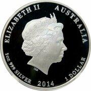 1 Dollar - Elizabeth II (4th Portrait - Red Cross) – obverse