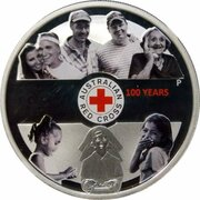 1 Dollar - Elizabeth II (4th Portrait - Red Cross) -  reverse