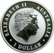 1 Dollar-Elizabeth II (4th Portrait - Australian Kookaburra) -  obverse