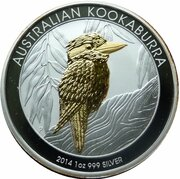 1 Dollar-Elizabeth II (4th Portrait - Australian Kookaburra) -  reverse