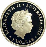 1 Dollar - Elizabeth II (4th Portrait - Wedding - Silver Proof) -  obverse
