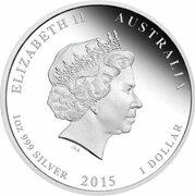1 Dollar - Elizabeth II (4th Portrait - ANZAC Spirit 100th Anniversary - Making of a Nation) -  obverse