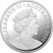 5 Dollars - Elizabeth II (6th Portrait - Tasmanian Devil - Silver Proof) -  obverse