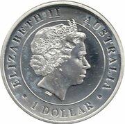 1 Dollar - Elizabeth II (4th Portrait - Australian Funnel-Web Spider) -  obverse