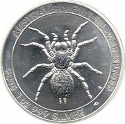 1 Dollar - Elizabeth II (4th Portrait - Australian Funnel-Web Spider) -  reverse