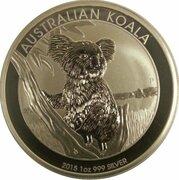 1 Dollar - Elizabeth II (4th Portrait - Australian Koala) -  reverse