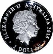 1 Dollar - Elizabeth II (4th Portrait - Australian Kookaburra - Proof High Relief) -  obverse