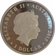 1 Dollar - Elizabeth II (4th Portrait - Dinosaur - Minmi) – obverse