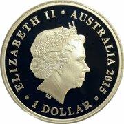 1 Dollar - Elizabeth II (4th Portrait - Lion Dance) -  obverse