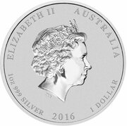 1 Dollar - Elizabeth II (4th Portrait - Year of the Monkey - Monkey King) -  obverse