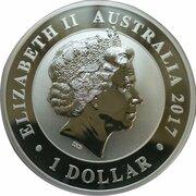 1 Dollar - Elizabeth II (4th Portrait - The Australian Stock Horse - Silver Bullion Coin) -  obverse