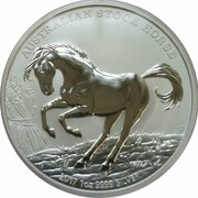 1 Dollar - Elizabeth II (4th Portrait - The Australian Stock Horse - Silver Bullion Coin) -  reverse