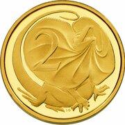 2 Cents - Elizabeth II (4th Portrait - Australian Miniature Money Gold Proof) – reverse