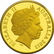10 Cents - Elizabeth II (4th Portrait - Australian Miniature Money Gold Proof) -  obverse