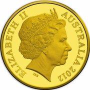 50 Cents - Elizabeth II (4th Portrait - Australian Miniature Money Gold Proof) -  obverse